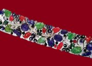Bracelet with carved colored stones and diamonds. Around 1930