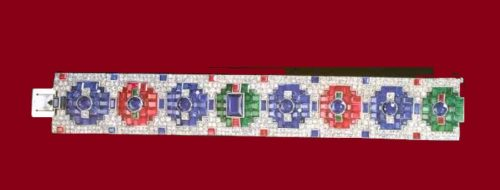Bracelet with rubies, emeralds, sapphires and diamonds. 1930