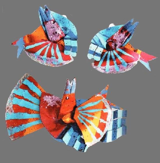 British designer Geoff Roberts foil costume jewelry