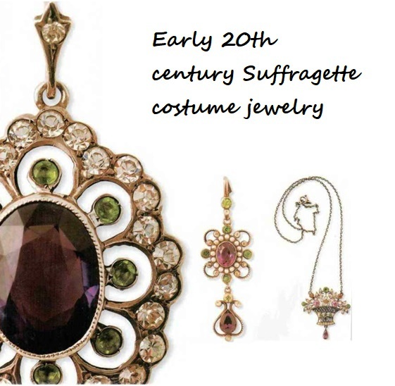 Early 20th century Suffragette costume jewelry