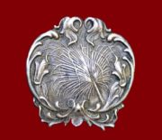 Exquisite Antique Gotham Sterling floral pin