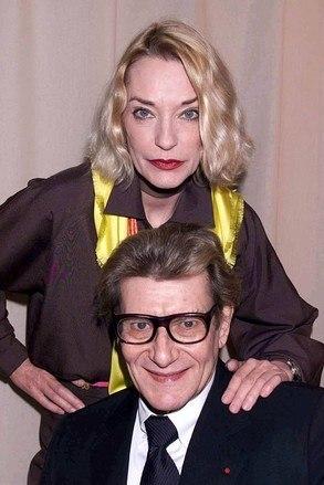 Fashion designers Loulou de la Falaise and Yves Saint Laurent