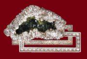 Jewelry panel 'Mountain Sonata'. Nickel, silver, zircon, zheoda. Mixed technique. 2002