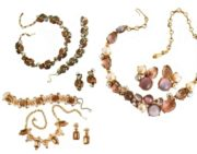 Jewelry sets of bracelets, necklaces and earrings