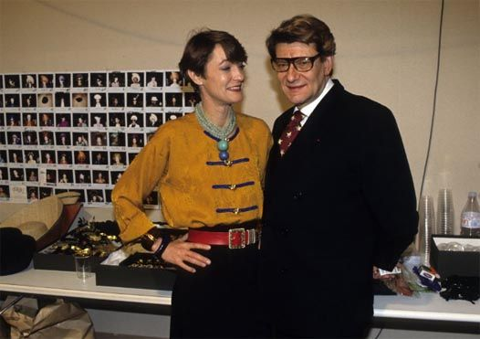 Loulou de la Falaise and Yves Saint Laurent