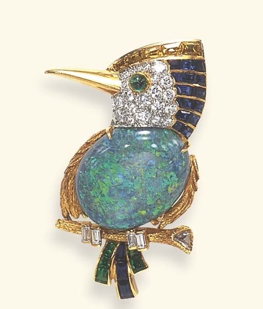 Lovely bird brooch