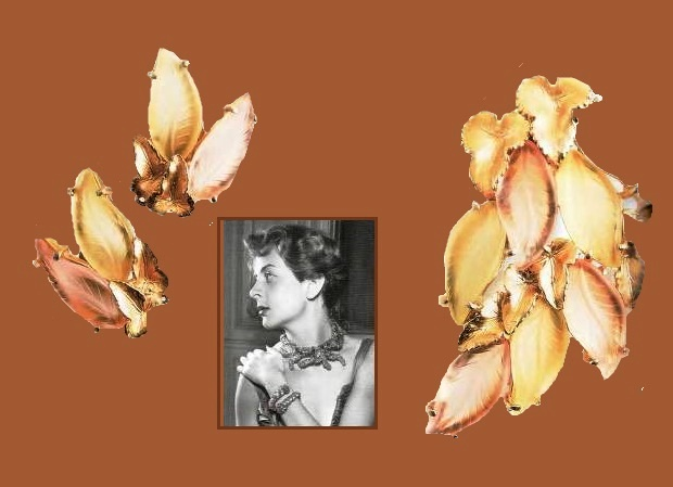Nature inspired Elsa Schiaparelli vintage costume jewellery