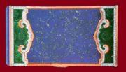 Rare Powder box, lapis lazuli, jade, corals and diamonds in oriental style. 1925