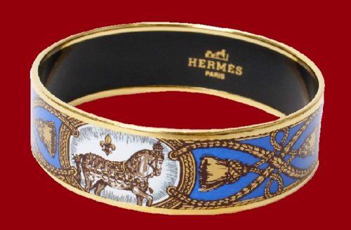 Signed Hermes Paris gold bracelet