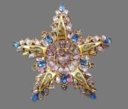 Star brooch. 1950s