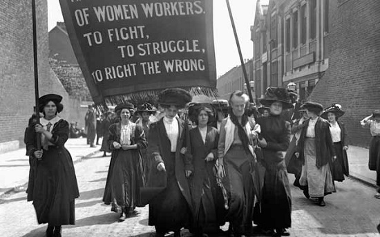 Suffragette movement in England, early 20th century