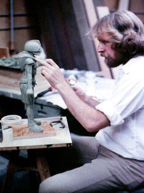 American artist, sculptor and jeweler Ralph Massey in 1970s