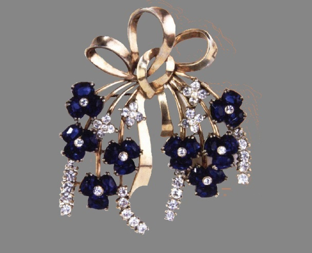 Blue Flowers brooch, 1946