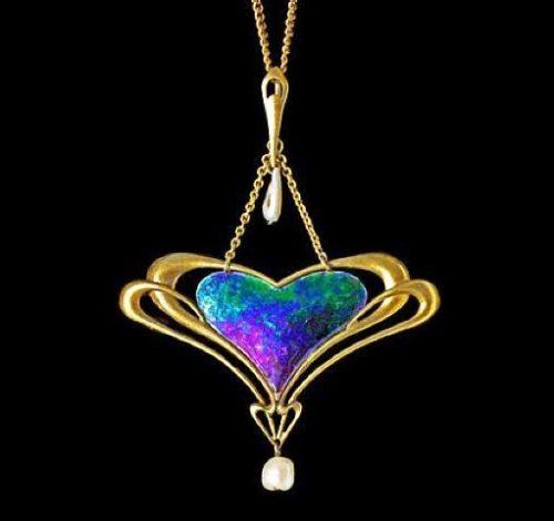 Blue heart pendant by Liberty & Co