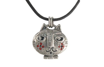 Collection 'Cats and hares'. silver ', hot enamel. Author Vera Palkina