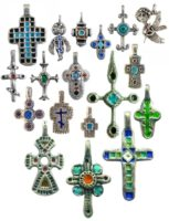 Cross series. Silver, hot enamel. Author Vera Palkina