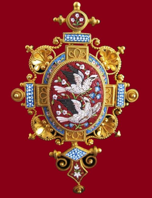 Etruscan Revival Brooch Late 19th Century