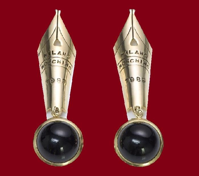 Fountain Pen Earrings. 1989