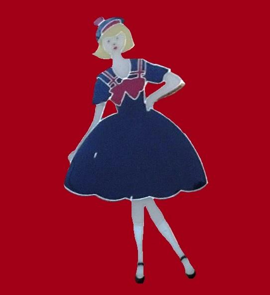 Girl - sailor pin