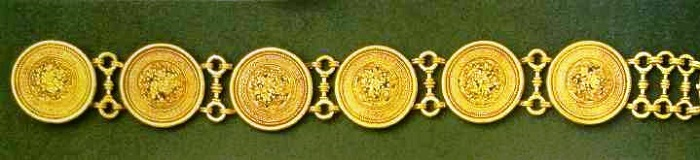 Gold bracelet, work by Castellani, I860
