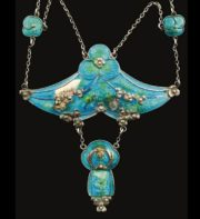Impressive enameled necklace by Jessie M King