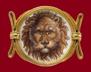 Lion's head brooch, 19th century