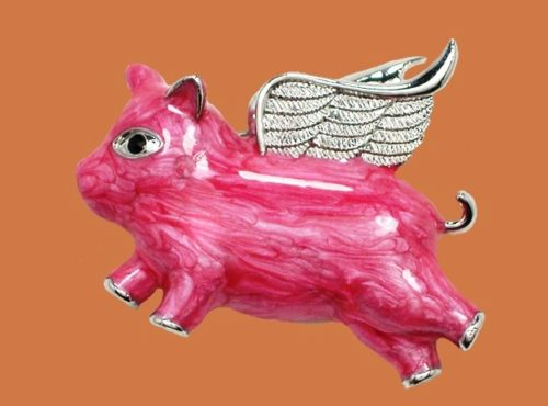 Pink Angel brooch