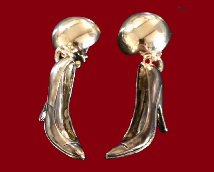 Shoe Gold Tone earrings