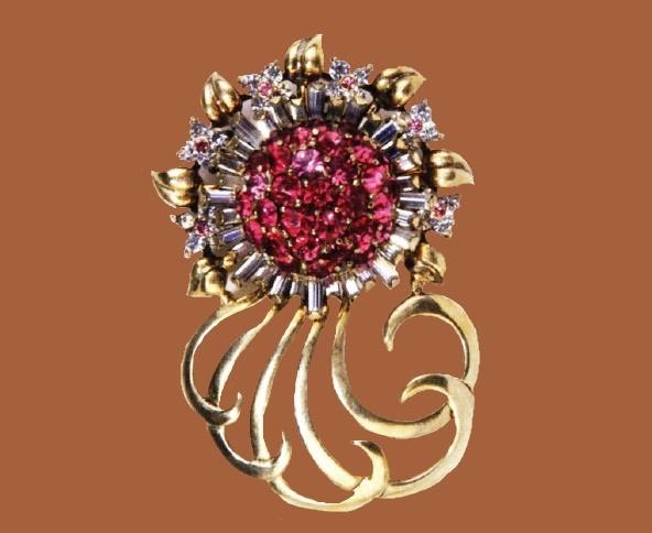 Sunflower 1947 brooch. Designer Oreste Pennino