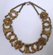 Unique rare vintage decoration - silver necklace from the heraldic series of jewelry created before 1947
