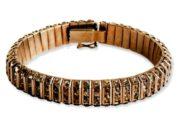 Art Deco style bracelet. rhodium plated metal, transparent rhinestone. 18 cm. 1920s. £ 60-100 MARA