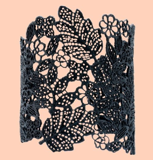 Black lace cuff