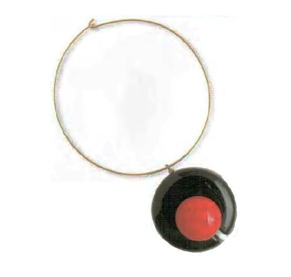 Century of Cosmos necklace. Metal, gilding, black plastic, plastic cabochon. 1960s pendant 8 cm £ 100-115