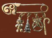 Christmas Charm Pin Brooch