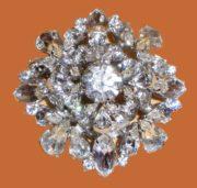 Clear Rhinestone brooch