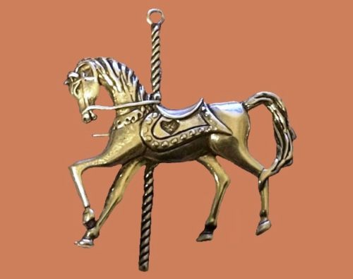 Courosel Horse Brooch