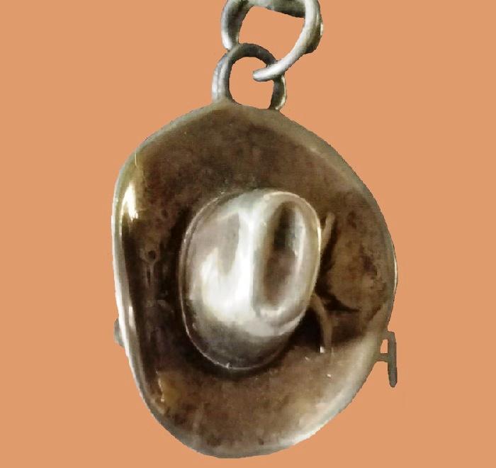 Cowboy hat pendant