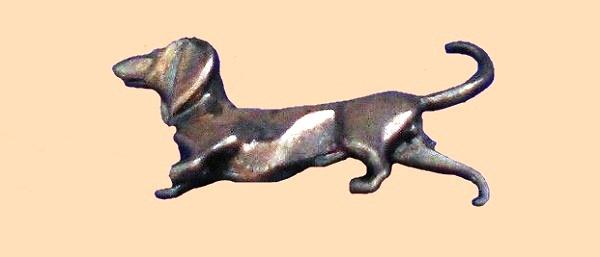 Dachshund sterling silver brooch