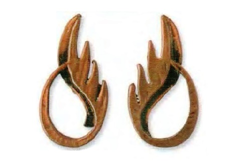 Earrings shade of copper in the form of flames. 1950. W. see £ 15-20 BB