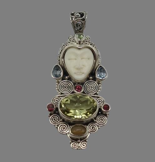 Gemstone Goddess Designer Pendant