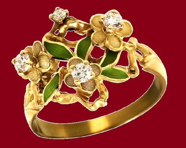 Gold ring Sakura