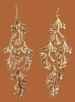 Grace Chandeliers Gold Earrings