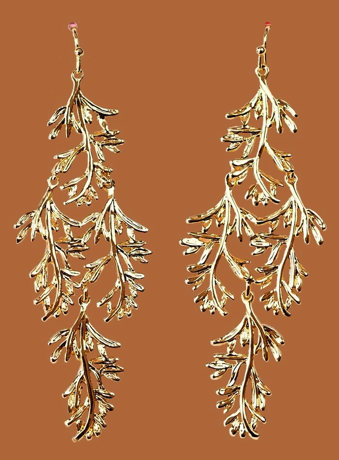 Grace Chandeliers Gold Earrings