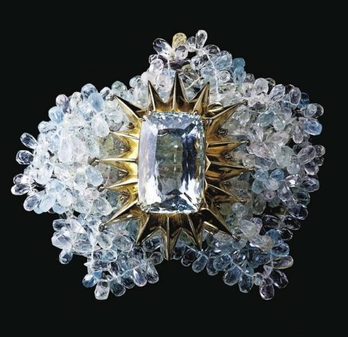 Ice aquamarine bracelet by Tony Duquette & Hutton Wilkinson