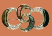 Inlay agate silver brooch. 1880s 6.5 cm £ 220-250 GS