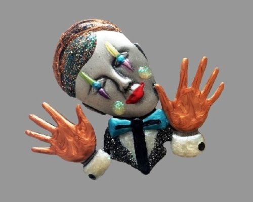 JJ (Jonette Jewelry Со) clown brooch