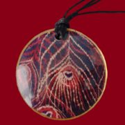 Large India double corded pendant. 8cm diameter