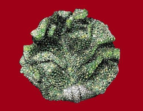 Lettuce leaf brooch, superb sense of color and remarkable craftsmanship