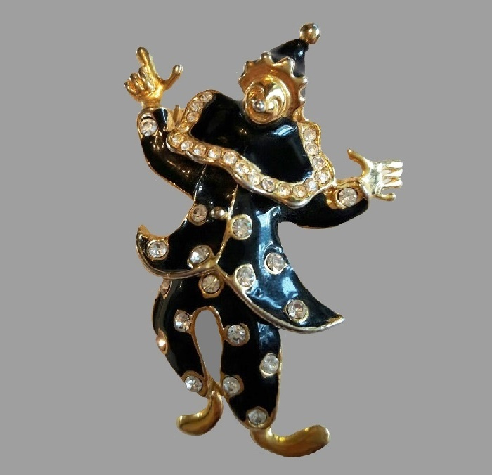 Lisner clown brooch