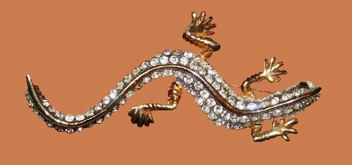 Lizard brooch